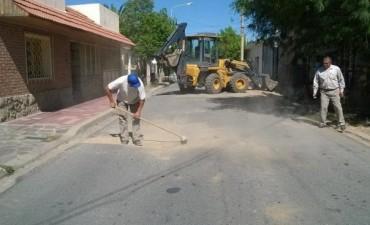 La Municipalidad de Andalgalá trabaja en el bacheo de sus calles