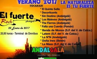 Esta noche llega a Andalgalá El Fuerte Rock edición 2017
