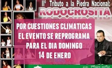 """Por razones climáticas se suspende la segunda edición """"Tributo a la Rodocrosita"""""""