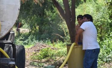 La Municipalidad de Andalgalá abasteció con agua a los vecinos de Choya
