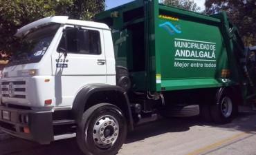 Servicio de recolección durante los carnavales 2018 en Andalgalá