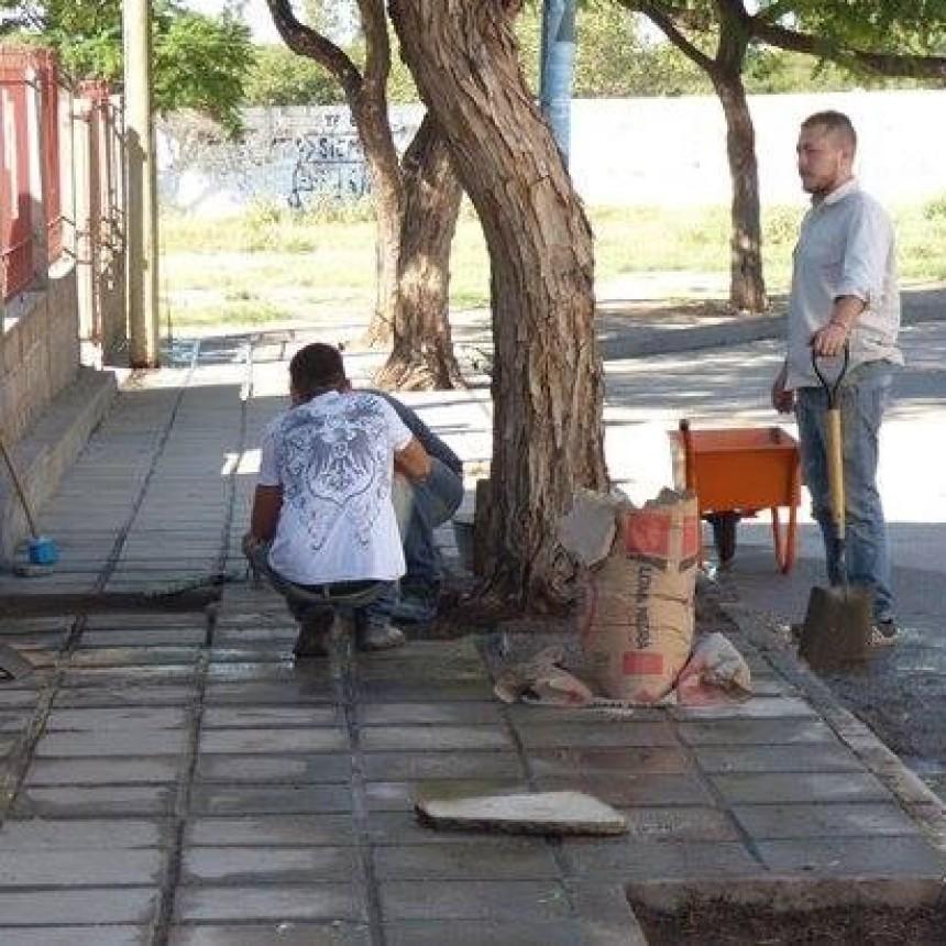 La Municipalidad de Andalgalá trabaja en la capilla del Barrio 12 de Julio