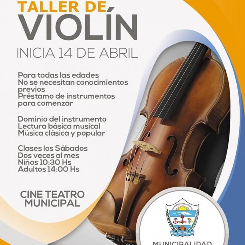 Taller de violín en Andalgalá