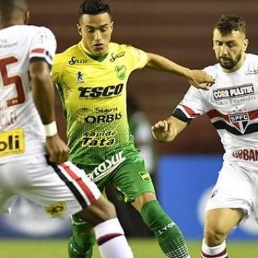 Defensa y Justicia igualó con San Pablo en su debut continental