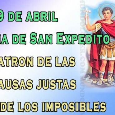 Hoy se celebra el día de San Expedito