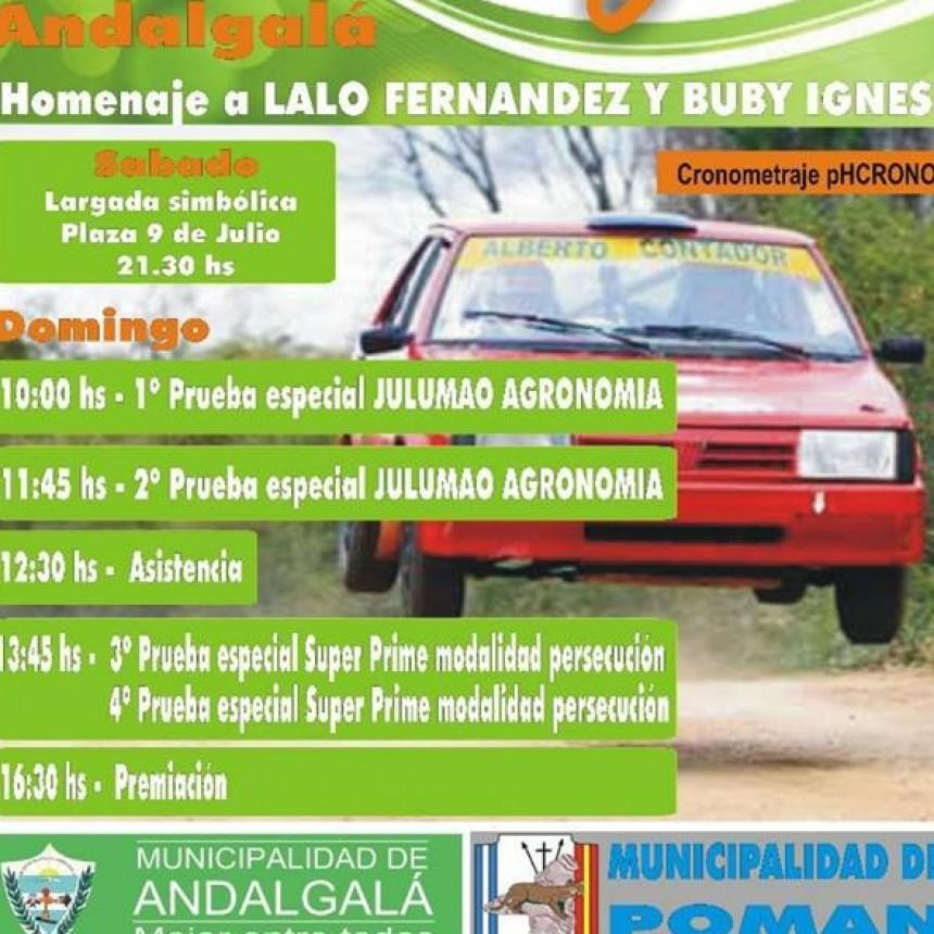 Se corre en Andalgalá, la segunda fecha del campeonato de Rally del Oeste Catamarqueño