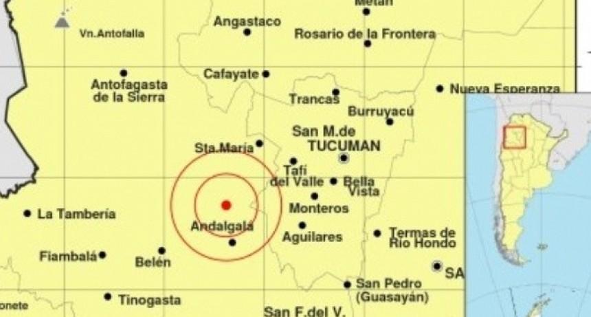 Leve sismo cerca de Andalgalá