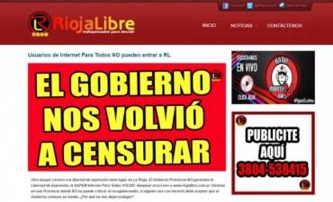 Denuncian que el gobierno de La Rioja censuró a dos páginas de internet críticas