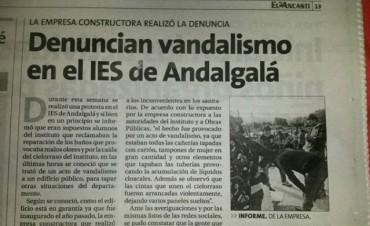 "La empresa constructora del IES llamó ""vándalos"" a alumnos de la casa de altos estudios"