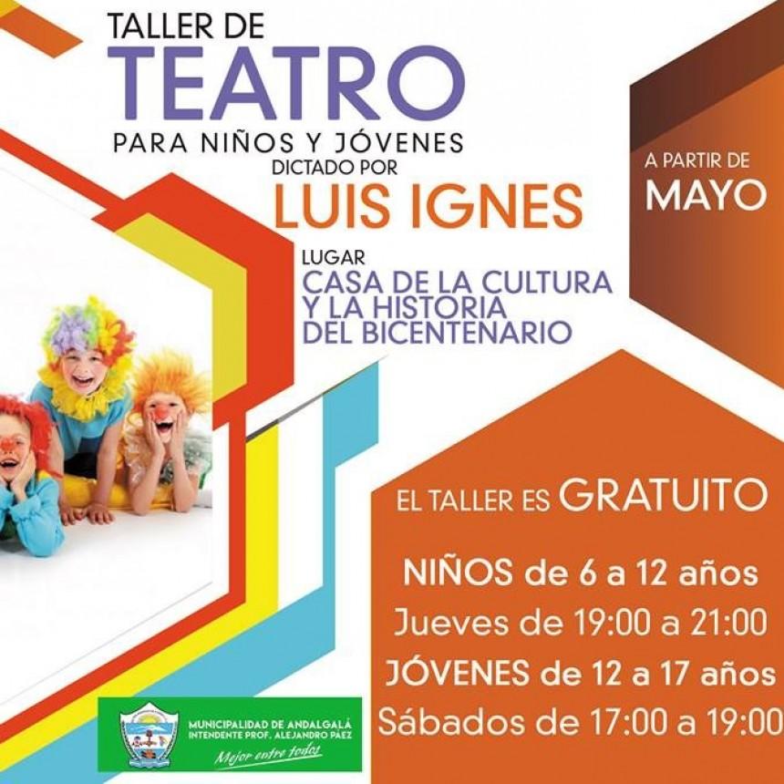 Taller de teatro en la casa de Cultura de Andalgalá