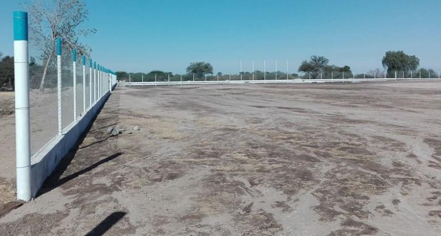 La Municipalidad de Andalgalá finalizo con el alambrado olímpico en el predio de la Asociación Futbolistas Veteranos de Andalgalá